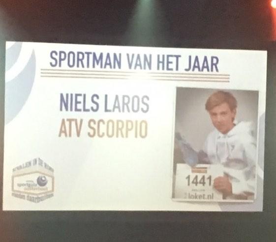 Oelbertaan Niels Laros werd dit weekend Sportman van Oosterhout!